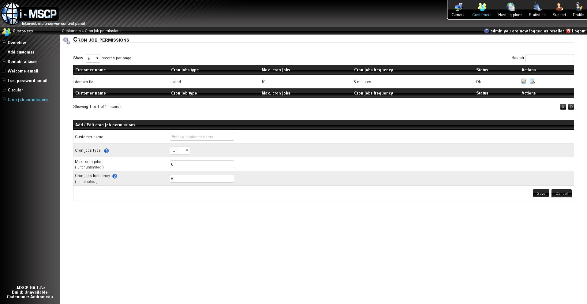 Cronjobs i mscp internet multi server control panel - Internet multi server control panel ...