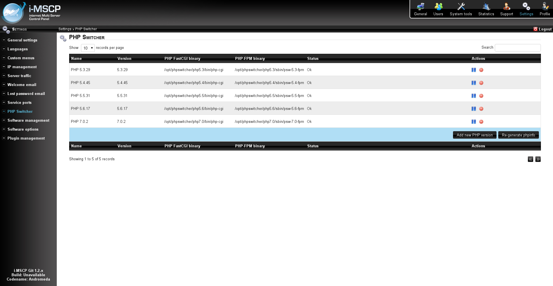 Phpswitcher i mscp internet multi server control panel - Internet multi server control panel ...